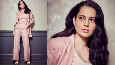 Yo or Hell No? Kangana Ranaut's Pink Pantsuit by Two Point Two Studio